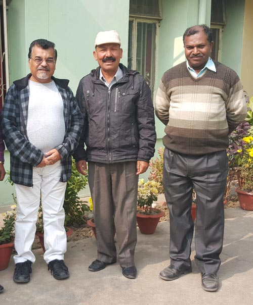 Ryder (left) with pastors during conference in Lucknow in January 2016. (Jose Simon is on the right.)