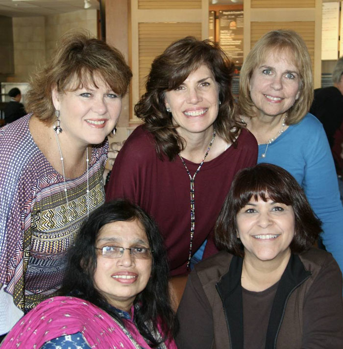 Diane Brown, Susan Leinen, Margie Varberg (top) Flory Kumar and Tammy Werth (bottom)